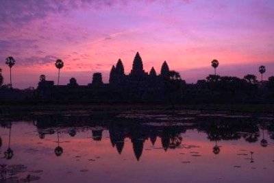 Angkor Wat At Sunset With A Little Help From My Friends